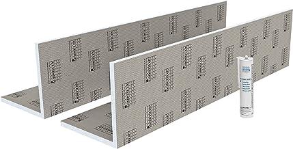 LUX ELEMENTS Pijpkast klaar om te betegelen, TEC-KA 30 set LTECX6003, grijs