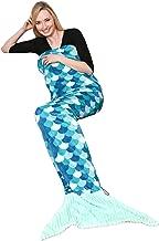 Kanguru 1171 Manta de sirena en poliester, Azul, Para todos