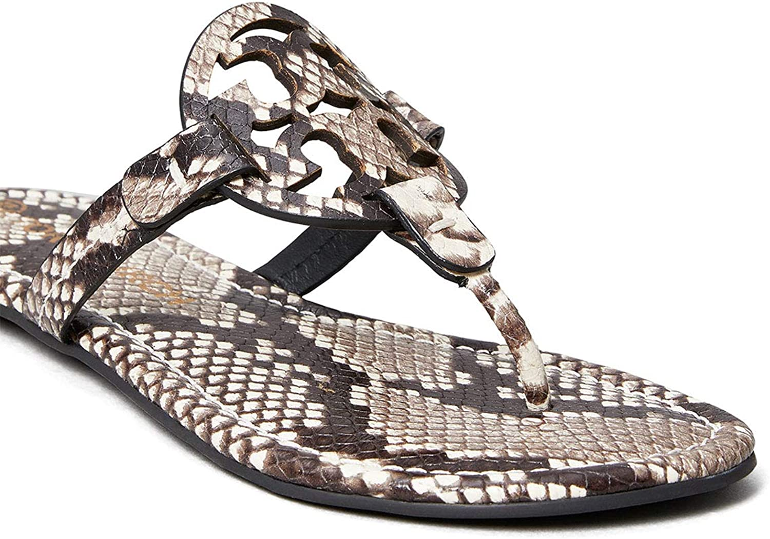 Tory Burch Women's Miller Stamped Printed Today's only Leather Sandals Max 75% OFF Snake