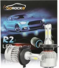 VoRock8 R2 COB H4 HB2 9003 8000 Lumens Led Headlight Conversion Kit, High Low Beam Headlamp, Dual Beam Head Light, Halogen Head light Replacement, 6500K Xenon White, 1 Pair