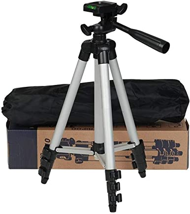 metors 3110 Portable and Foldable Tripod with Mobile Clip Holder Bracket, Fully Flexible Mount with 3 Dimensional Head for Phones and Camera