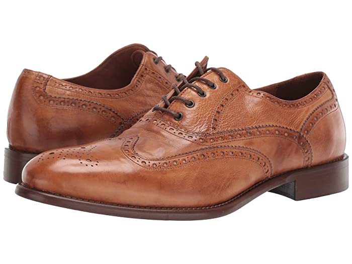 1920s Style Mens Shoes | Peaky Blinders Boots JM EST. 1850 Bryson Wingtip Cognac Mens Shoes $171.00 AT vintagedancer.com