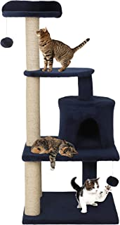 Callas RioAndMe Ultimate Thick Cat Scratching Post with Toy (Cat Tree Dark Gray)