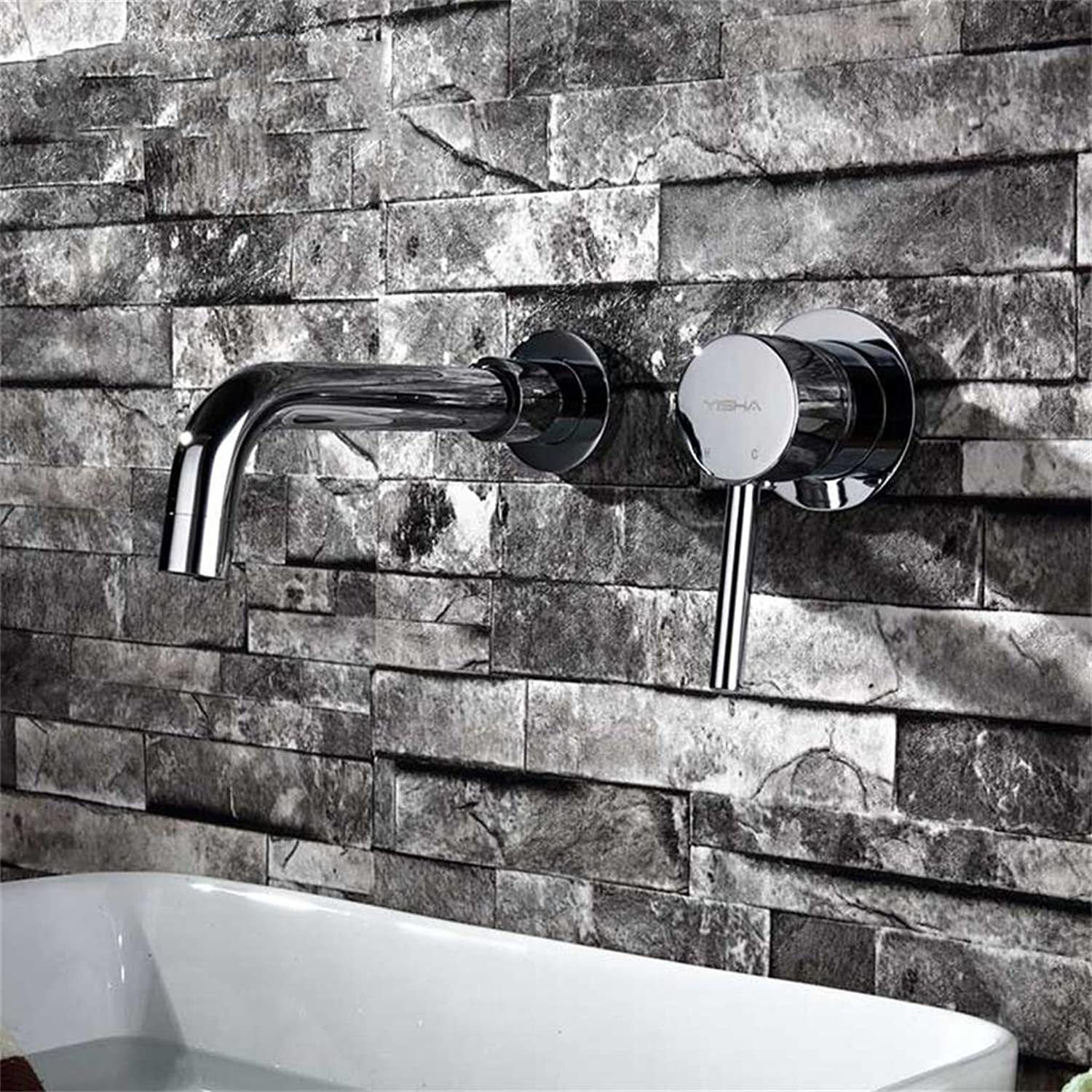 PIGE Hot and cold copper into the wall concealed basin mixer washbasin counter basin faucet