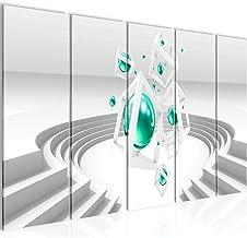 tafeldecoratie 3D muur - 200 x 80 cm canvas kamer appartement met uitzicht - klaar te hangen - 010955