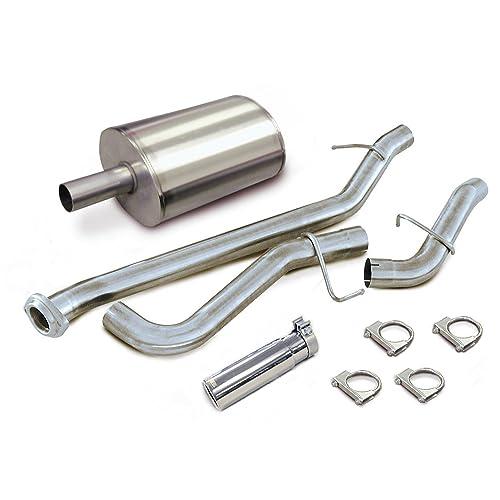 CORSA 8004001 22.74 Length x 9.62 Diameter Stainless Steel Muffler with 4 Diameter Center Inlet//Outlet for Powerstroke Diesel Corsa Performance