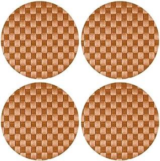 Saleen: مجموعة من 4 مفارش دائرية من الفلين مقاس 14 بوصة. تصميم وصنع ألماني. بلاستيك منسوج خالٍ من البيسفينول. آمنة للغسل ف...