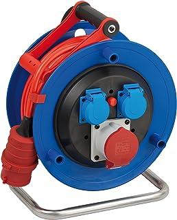 Brennenstuhl Garant CEE 1 IP44 Kabeltrommel 25m Kabel in signalrot, aus Spezialkunststoff, Einsatz im Außenbereich, Made in Germany