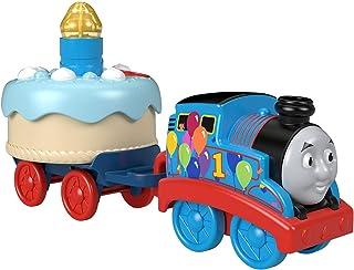 Thomas & Friends Birthday Wish Thomas, motor de tren musical de juguete con pastel de cumpleaños iluminado para niños pequeños y preescolares a partir de 12 meses