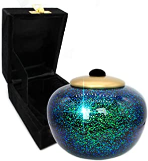 Atlantis Shimmering Light Cremation Urns for Human Ashes Adult for Funeral, Niche, Burial or Columbarium, Urns for Ashes A...