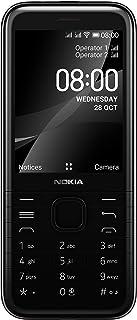 هاتف نوكيا 8000 بسعة 4 جيجا مع الاحرف العربية بتقنية اتصال 4 جي بلون اسود موديل TA-1311