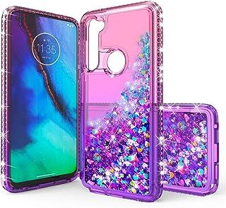 Communikart case for Motorola G Stylus, Shiny Bling Liquid Floating Quicksand Case with Diamonds, Soft TPU Bumper Reinforc...
