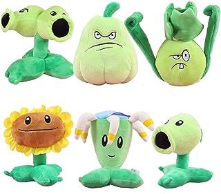 TavasHome Plants vs Zombies 2 PVZ Figures 6pcs/Set Plush Baby Staff Toy Stuffed Soft Doll PP Cotton Lot 15-20cm/6-8 Tall