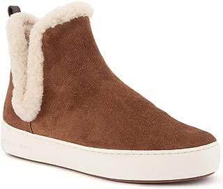 Womens Ashlyn Suede Shearling Platform Sneakers