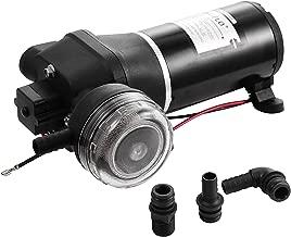 Mophorn Bomba de Agua de Presión FL-40 Bomba de Diafragma de 12 V Bomba de Agua de Alta Presión Bomba de Agua de 17 l/min