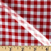 Oilcloth International Oilcloth Gingham Red Fabric By The Yard