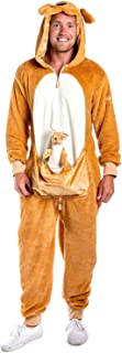 Tipsy Elves' Men's Kangaroo Costume - Brown Marsupiral Halloween Jumpsuit