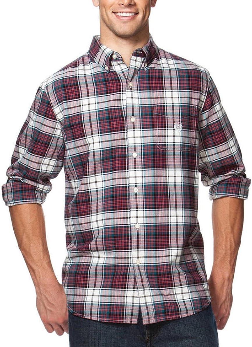 Chaps Men's Big &Tall Woven Plaid Print Shirt
