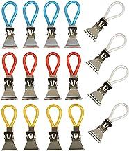 K&G Set van 16 handdoekhaken bont | multifunctionele clips | reserve ogen | theedoeken, pannenlappen hangers | klemmen | b...