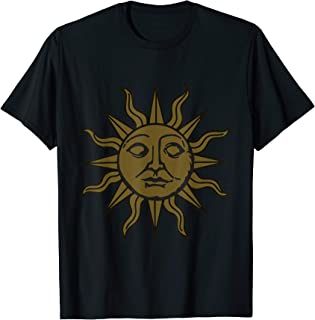 Sun Print Summer T-shirt - Vintage Sun Face Tee Design