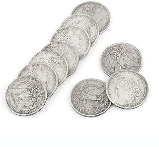 Yiteng マジックコイン シェルコイン モルガンダラーマジックコイン 手品用 薄型 小道具 直径3.8cm 10枚セット