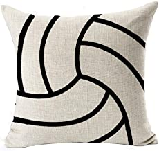 Ball Sports Series Simple Volleyball Design Cotton Linen Throw Pillow Case Cushion Cover Home Office Decorative Square 18 ...