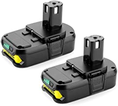 Powilling 2Pack 2500mAh Ryobi 18V Lithium Battery Pack Replacement for Ryobi 18-Volt ONE+..