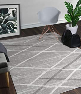A2Z Rug Modern Contemporary Gray, Dark Gray Salvador 9957 Area Rugs 120x170 cm - 3'9
