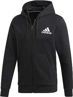 37c88bd84e877b adidas Men's Must Haves Plain Full Zip Hooded Tracksuit Jacket