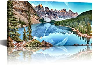 Rocky Mountains Black and White Large Poster Lake Louise Banff Mountain Print Black and White Nature Photography Canadian Rockies Decor
