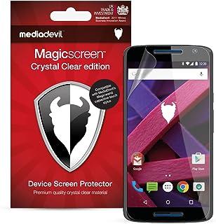 MediaDevil skyddsfolie för Motorola Moto X Play (2015) – Crystal Clear (osynlig) [2 stycken]