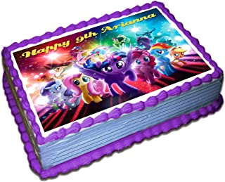 My Little Pony Personalized Cake Toppers Icing Sugar Paper 8.5 x 11.5 Inches Sheet Edible Frosting Photo Birthday Cake Topper Fondant Transfer (Best Quality Printing)