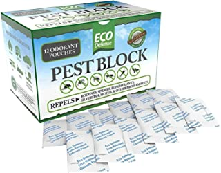Eco Defense Pest Control Pouches - All Natural - Repels Rodents, Spiders, Roaches, Ants, Moths & Other Pests - 12 Pack - B...
