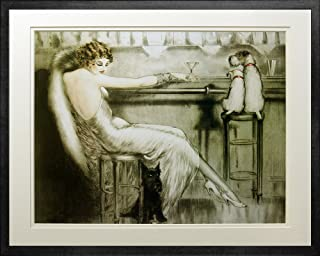 louis icart woman with dogs