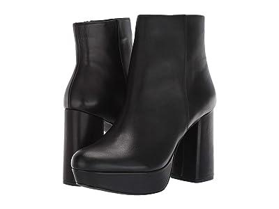 Steve Madden Grate Platform Bootie (Black Leather) Women