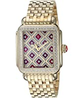 Michele - Deco Chateau Diamond with Cabernet Mother-of-Pearl Inlay Design Gold