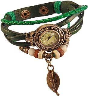 家で人気のあるBoolavard®TMブラウンカラークォーツファッションウィーブラップアラウンドレザーブレスレットレディースレディース腕時計ランキングは何ですか