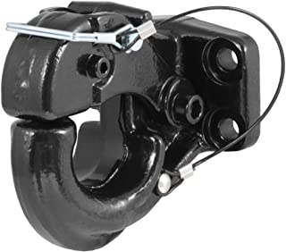 CURT 48210 Pintle Hook Hitch 20,000 lbs, Fits 2-1/2 to 3-Inch Lunette Ring, Mount Required