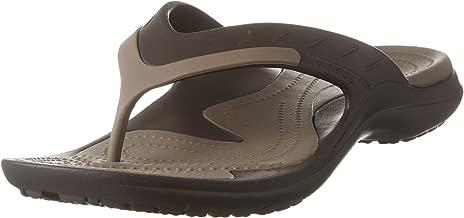 crocs Unisex Modi Sport Flip-Flop,  Espresso/Walnut, 10 M (D) US Men / 12 M (B) US Women