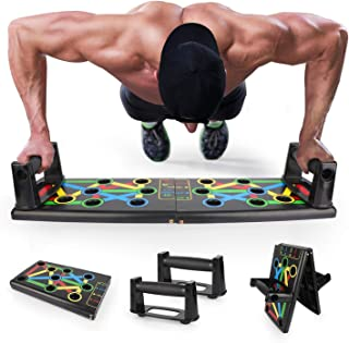 EKOOS 14 en 1 Tablero Push-Ups Board Sistema Portátil De Músculos Multiparte para El Hogar Equipo De Entrenamiento Físico Ejercicio Físico Plegable Equipo De Ejercicios Multifunción