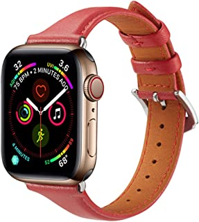 Correa de cuero para Apple Watch 5/4/3/2/1 38 mm 40 mm Correa de reloj Correa de repuesto de bucle de cuero para IWatch 5/...