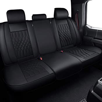 Charcoal Black SS3374PCCH Covercraft Custom-Fit Front Bench SeatSaver Seat Covers Polycotton Fabric