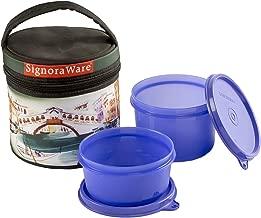 Signoraware Venice Executive GenX Lunch Box with Bag Set, 2-Pieces, Deep Violet