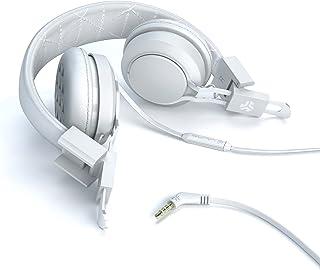 JLab INTRO-WHT-BOX Premium On-Ear Audífonos, with Universal Mic, White