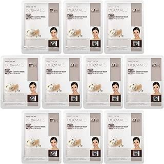 DERMAL Pearl Collagen Essence Facial Mask Sheet 23g Pack of 10