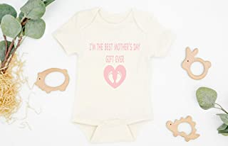 MOTHER'S DAY BODYSUIT, First Mother's Day, First Mother's Day Baby Outfit, Organic Baby Clothes, Mother's Day Gift, New Mom Gift