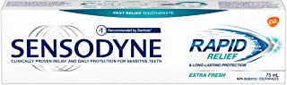Sensodyne Rapid Relief Daily Sensitivity Toothpaste, Plaque and Tartar Remover for Teeth, Fresh Breath, Prevents Cavities,...