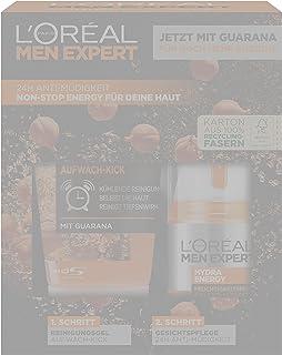 L'Oréal Men Expert Hydra Energy presentuppsättning för män, med tvättgel med guarana och C-vitamin, 100 ml