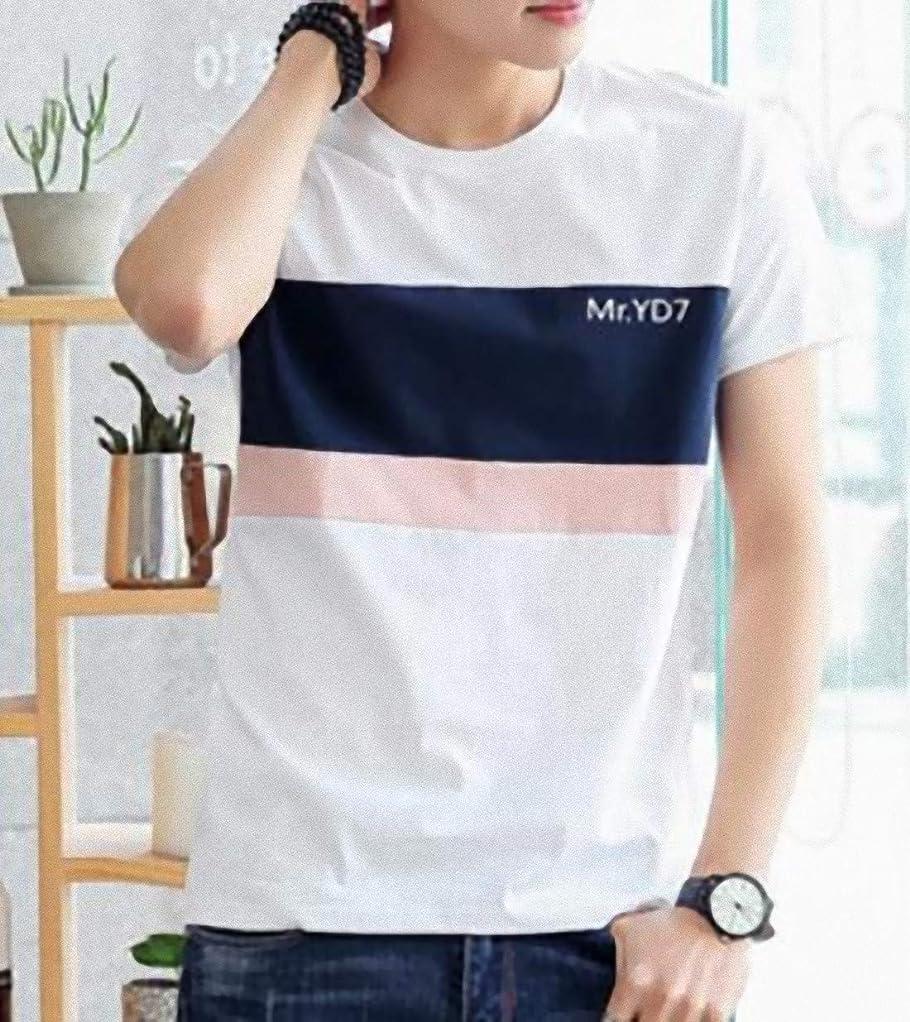 マルクス主義者グループスタジオ[ SmaidsxSmile(スマイズ スマイル) ] Tシャツ トップス カットソー 半袖 ライン ボーダー ロゴ 丸首 襟 配色 メンズ