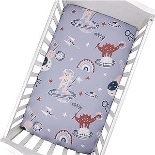 DSMYYXGS Baby Crib Sheet Soft Crib Monterat ark Barnmadrass Täck Bomull Tryckt Toddler Sheets för Boys Girls (130 * 70 * 2...